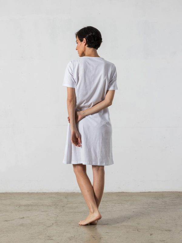 Nightgown, rounded-collar, short sleeves - Oncohelp