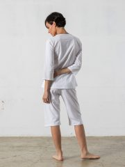 Pijama corto de 2 piezas, manga 3/4 – Oncohelp
