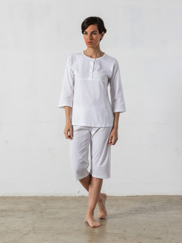2-piece short pyjama, 3/4-sleeved T-shirt - Oncohelp
