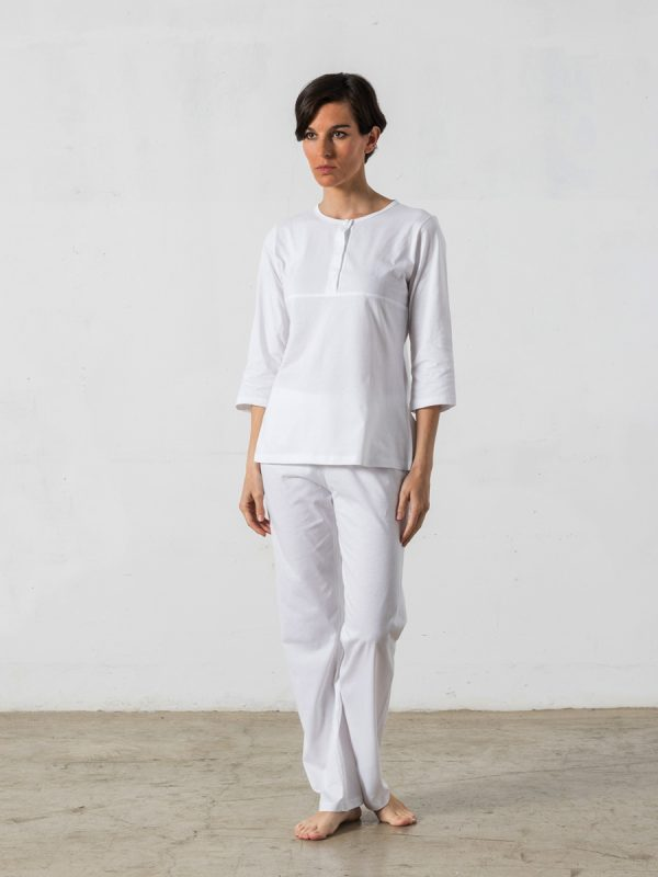 2-piece long pyjama, 3/4-sleeved T-shirt - Oncohelp