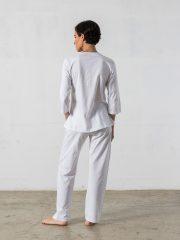 Pijama largo de 2 piezas, manga 3/4 – Oncohelp