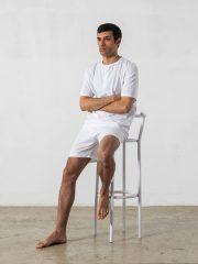 Pijama corto de 2 piezas, cuello redondo – Oncohelp