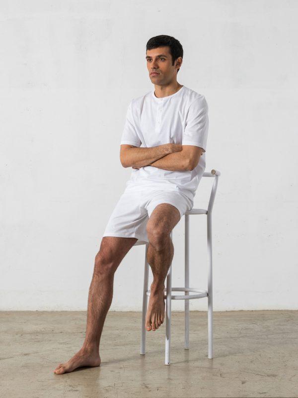Pijama corto de 2 piezas, cuello redondo