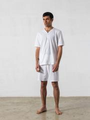 Pijama corto de 2 piezas, cuello pico – Oncohelp